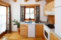 Küche im OEKO-Feriendorf Schlierbach