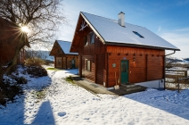 Ferienhaus im Winter